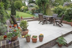 elevated outdoor pavement by Cairns Pavers