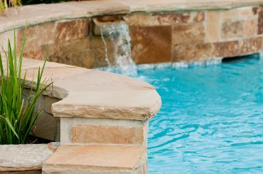pool tiles paved by Cairns Pavers